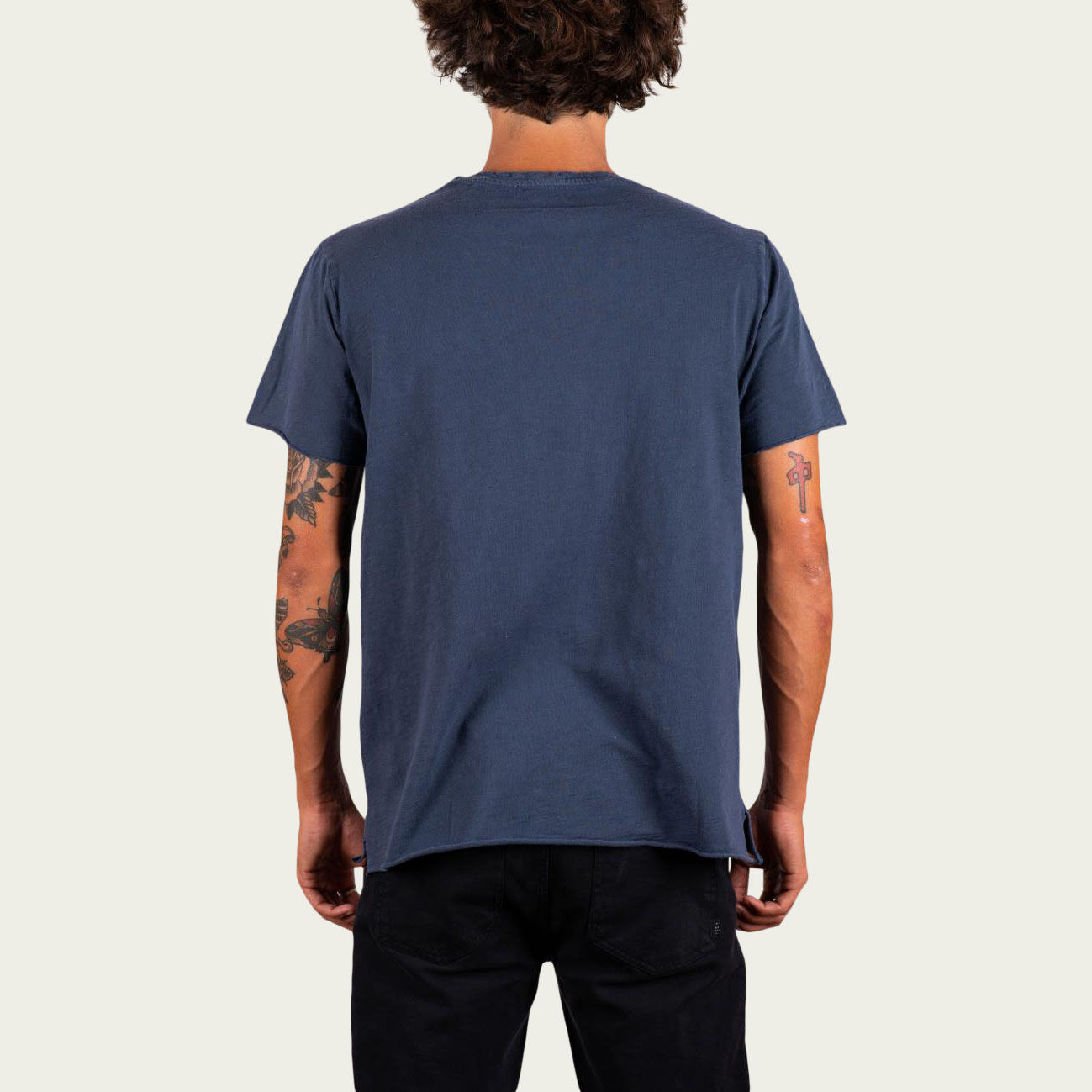 Blue and Sand Smiley Tee-shirt   Bombinate
