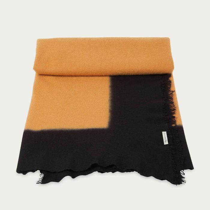 Lichen Hand Felted Blanket Dip Dye | Bombinate