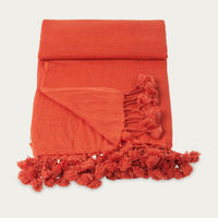 Maple Wanaka Cashmere Throw with Pompoms | Bombinate
