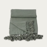 Pixel Wanaka Cashmere Throw with Pompoms | Bombinate