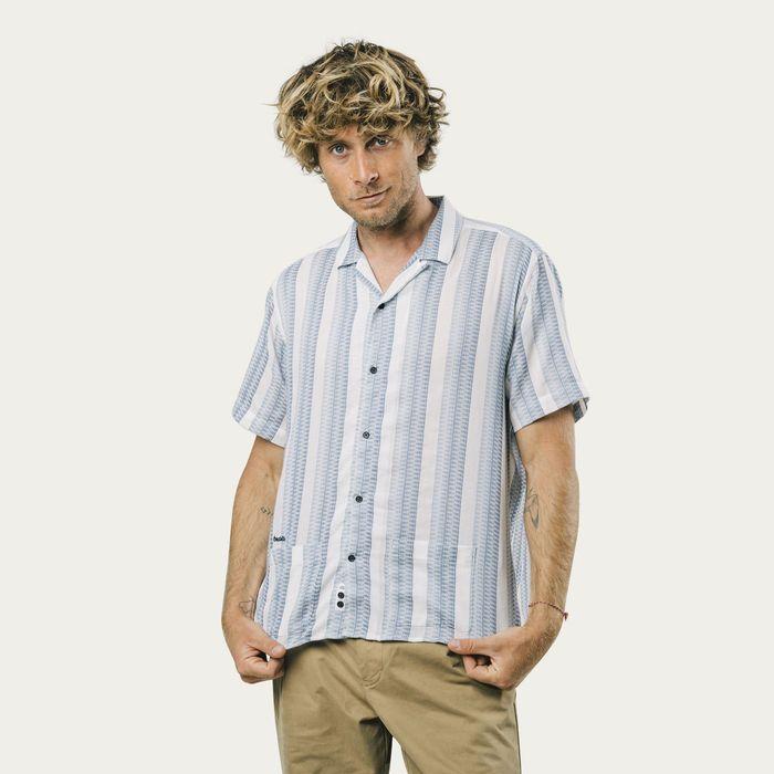 Jacquard Stripe Shirt | Bombinate
