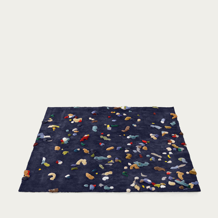 Dark Blue Chaos Rug | Bombinate
