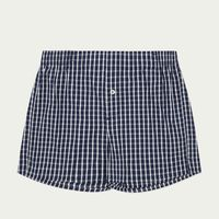 Blue and White Check Boxer Short  | Bombinate