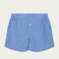 Blue and White Pinstripe Boxer Short  0