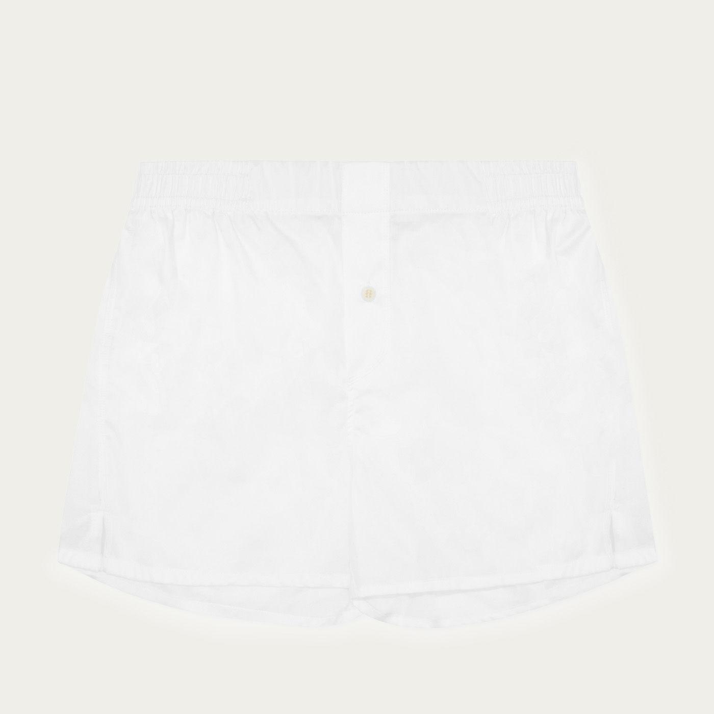 White Boxer Short Classic  | Bombinate