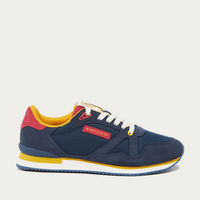 Mustard Red Navy Suede André Running Shoes | Bombinate