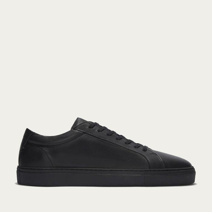 Triple Black Leather Series 1 Sneakers | Bombinate
