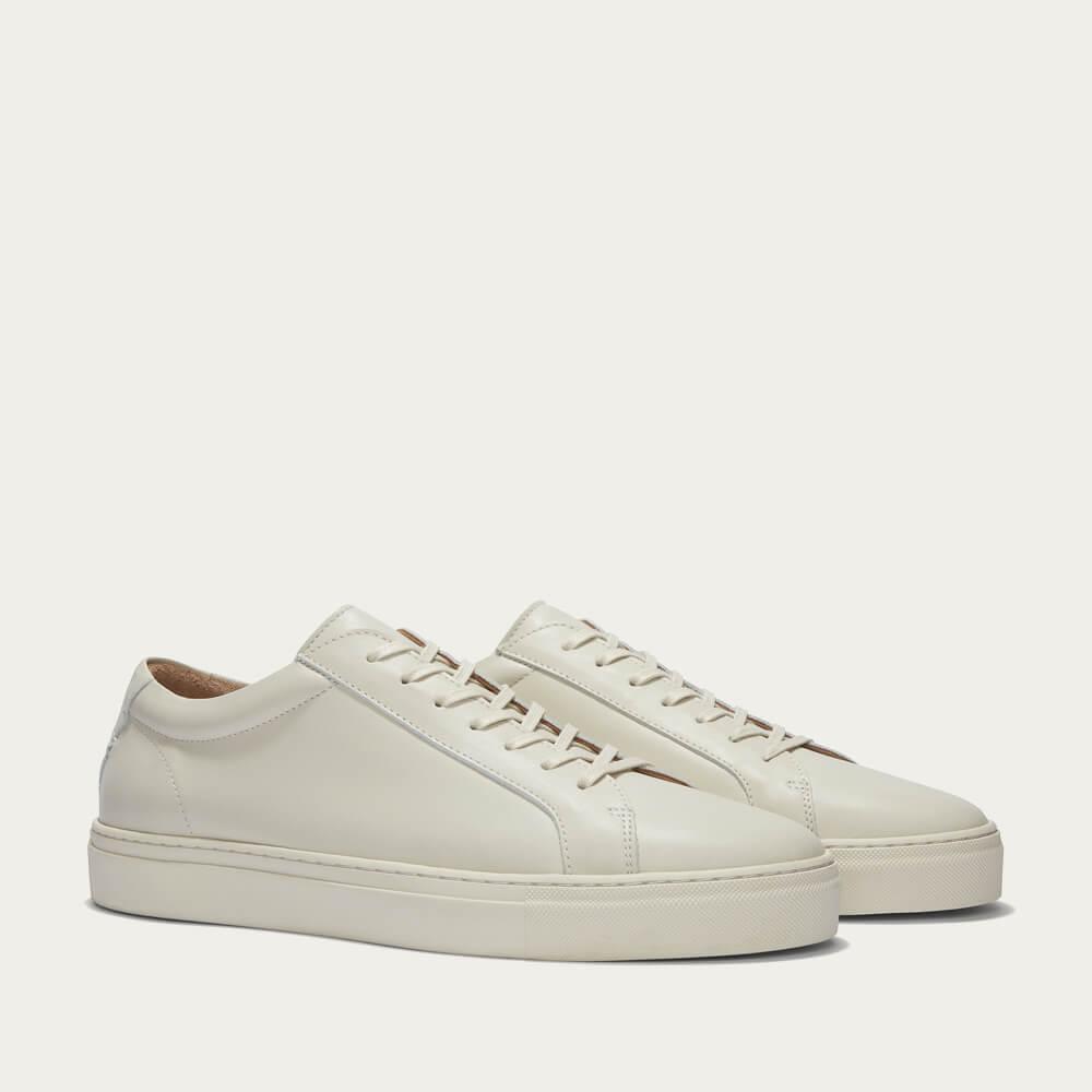 Triple Ecru Leather Series 1 Sneakers | Bombinate