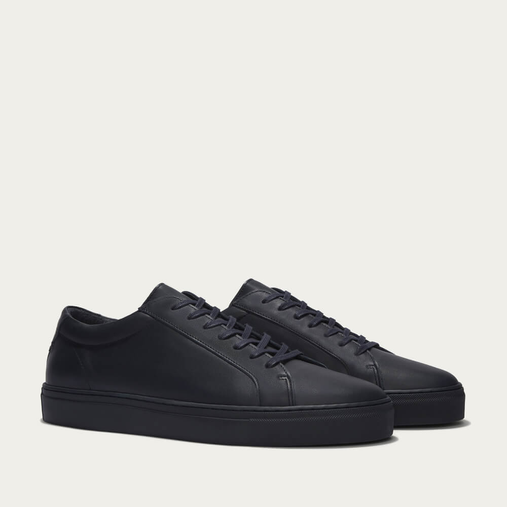 Triple Navy Leather Series 1 Sneakers | Bombinate