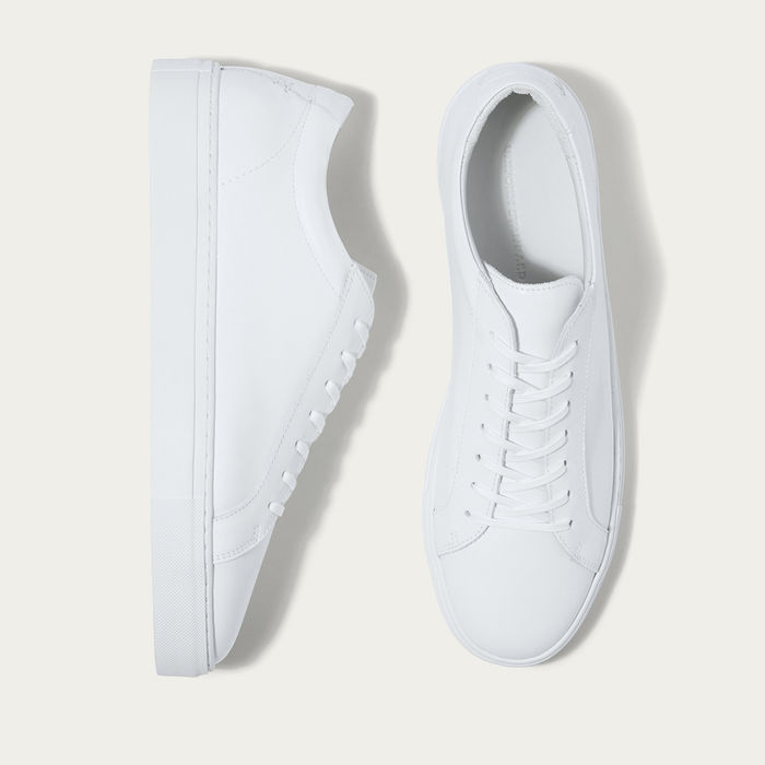 Triple White Leather Series 1 Sneakers | Bombinate
