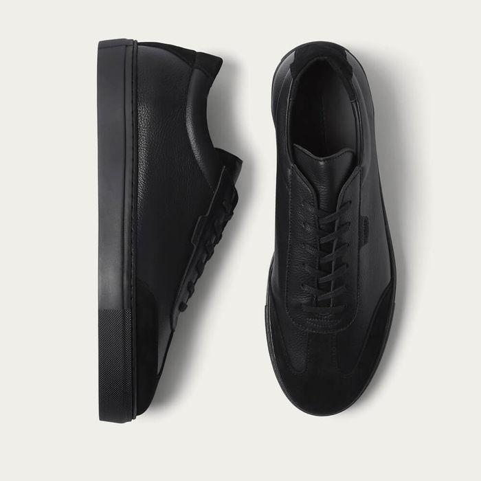 Triple Black Tumbled Leather Series 3 Sneakers   Bombinate