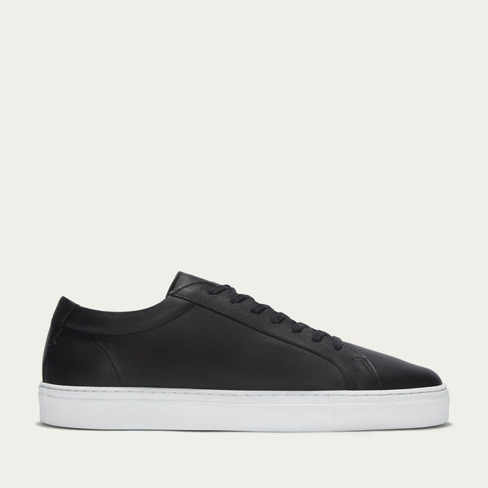 Double Black Leather Series 1 Sneakers   Bombinate