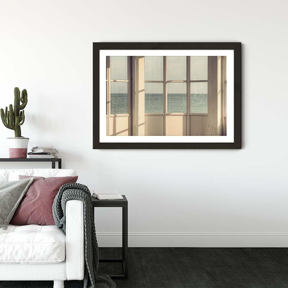 Ostsee 02 Art Print Black Frame   Bombinate
