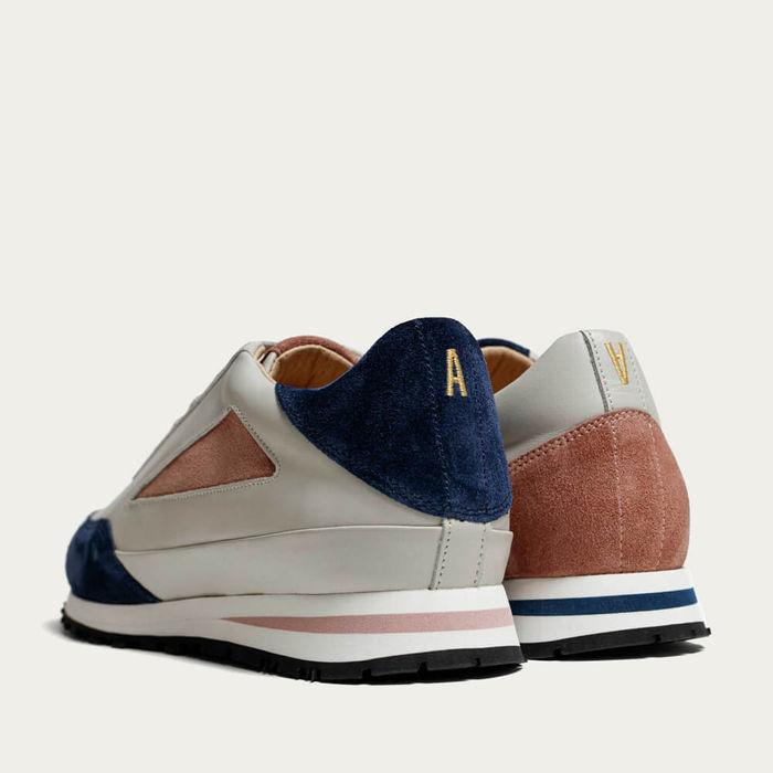 Pink Navy B&C - Italian Leather Shoes | Bombinate