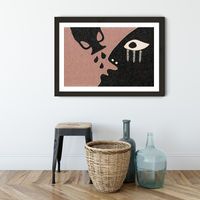 Stay Hydrated Art Print Black Frame | Bombinate