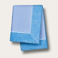 Cobalt Blue with Cobalt Stripes Grand Luxe Beach Towels | Bombinate