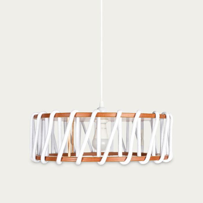 White Macaron Pendant Lamp | Bombinate