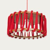Red Macaron Pendant Lamp | Bombinate