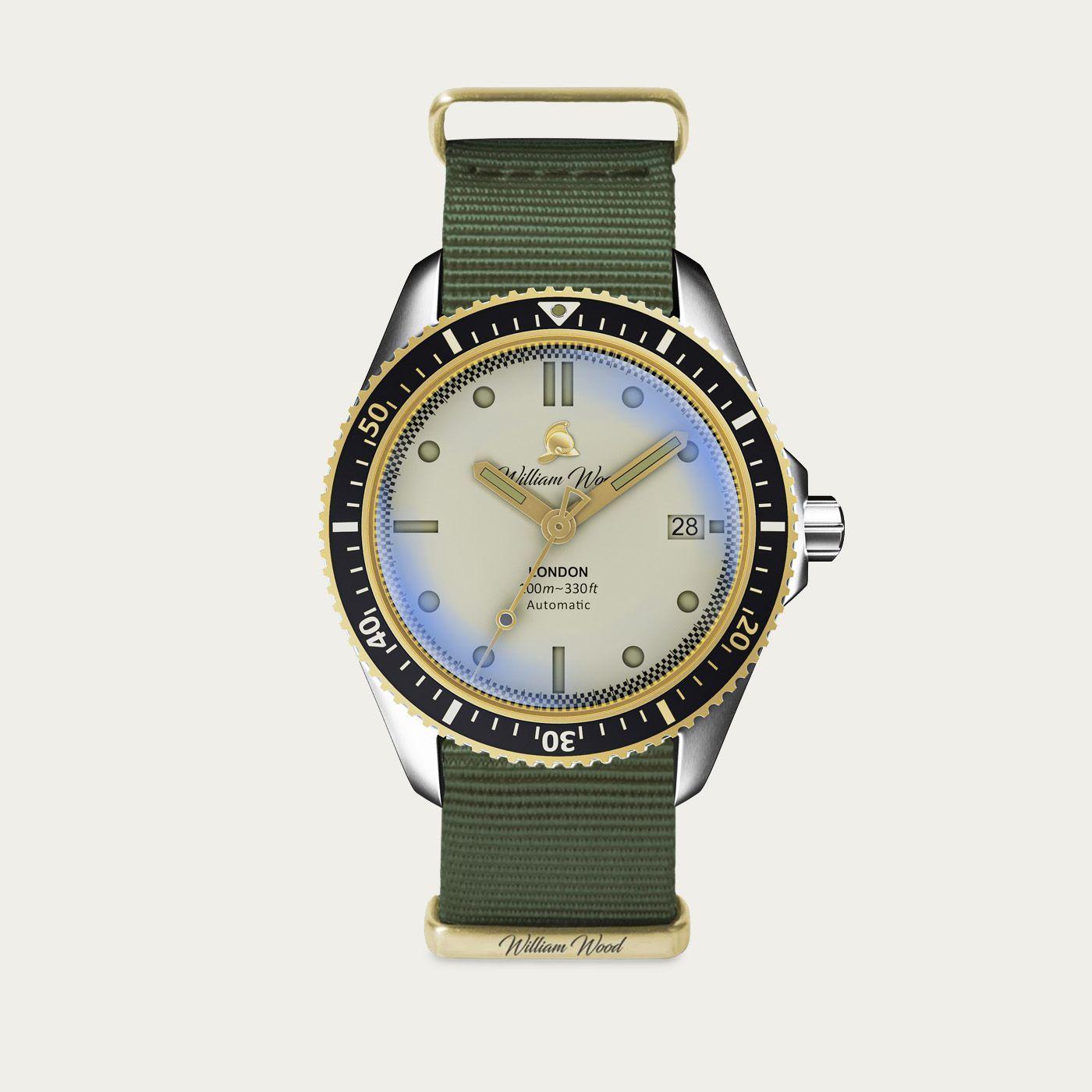The Valiant White Watch / Nato Strap   Bombinate
