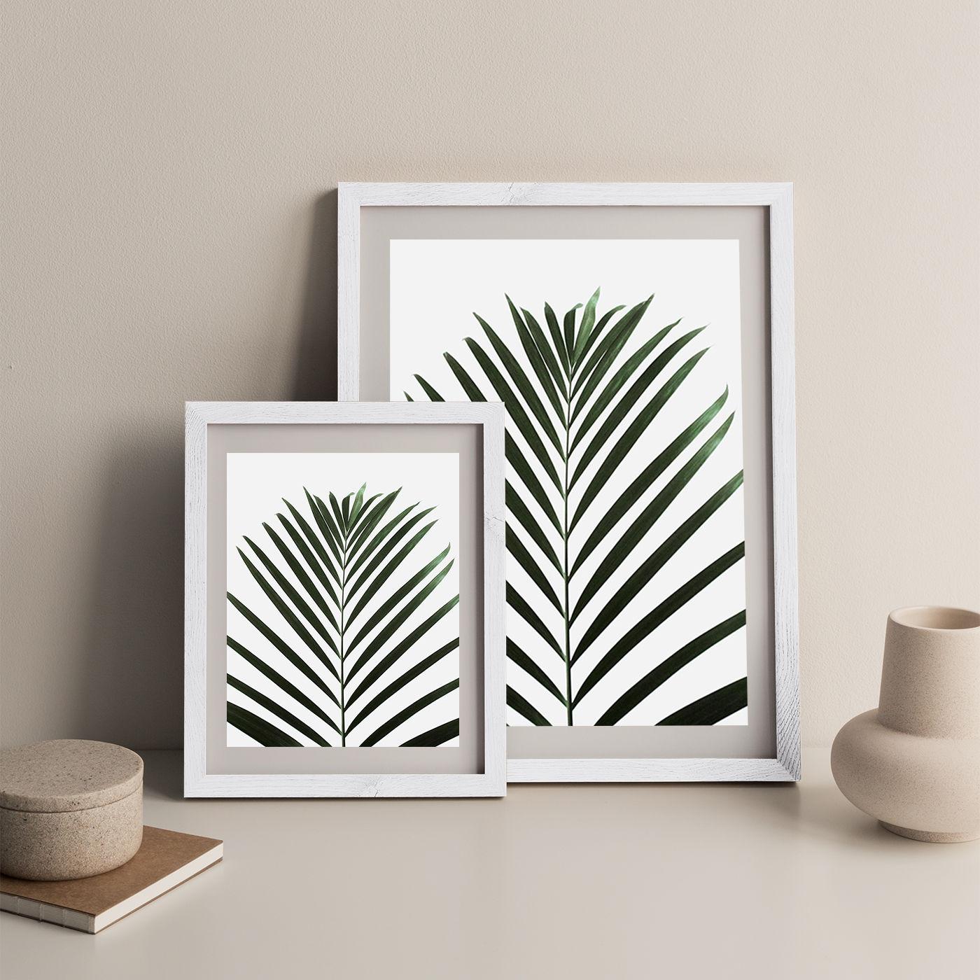 Lush Tropical Palms Art Print White Frame   Bombinate