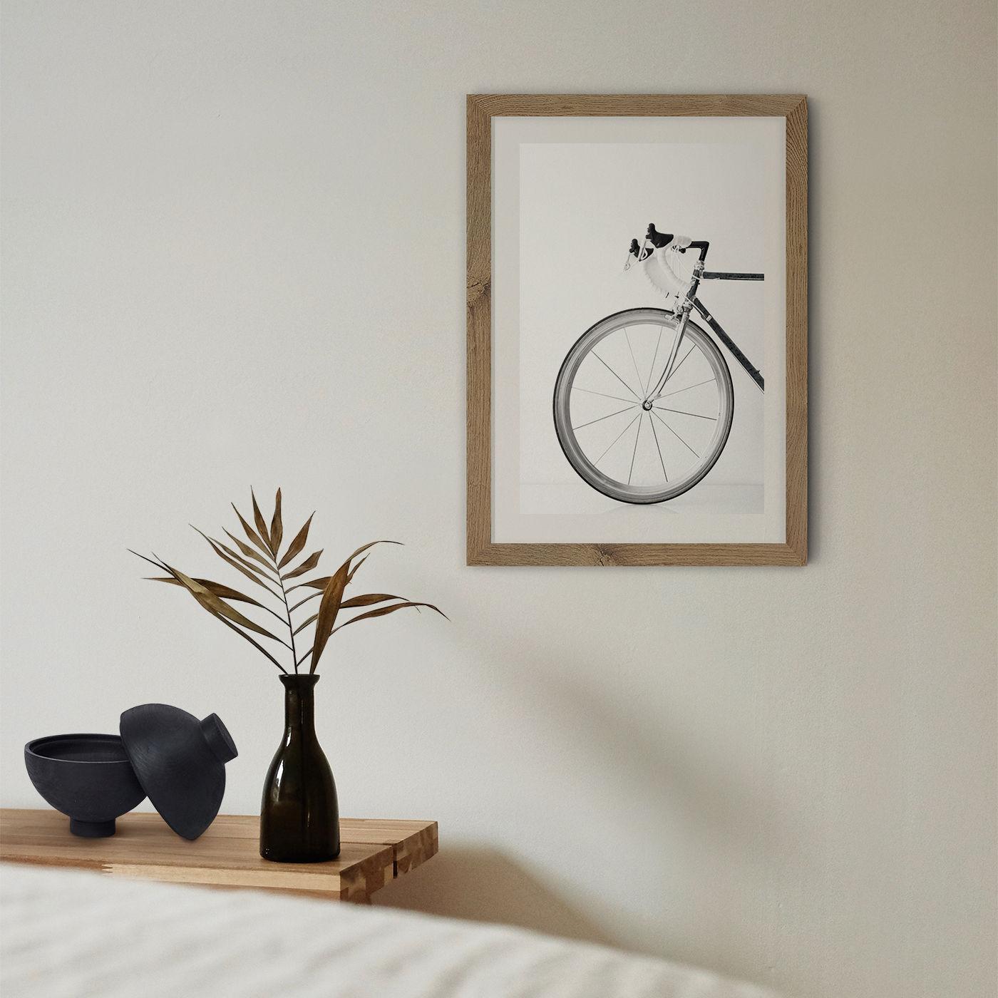 Ride My Bike - Black & White Edition Art Print Oak Frame | Bombinate