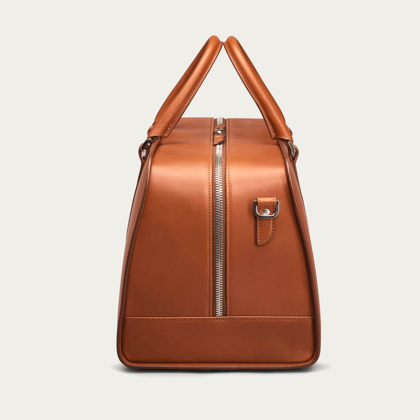 Cognac with Red Lining Palissy Weekend Leather Bag | Bombinate