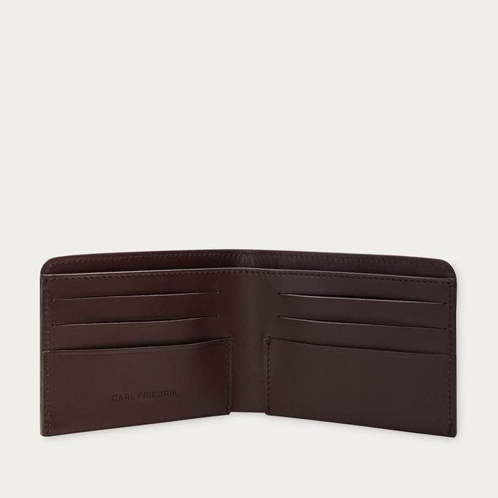 Chocolate Amwell Leather Bifold Wallet | Bombinate