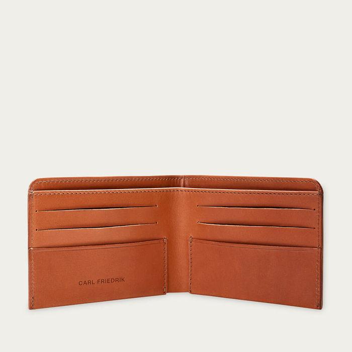 Cognac Amwell Leather Bifold Wallet | Bombinate