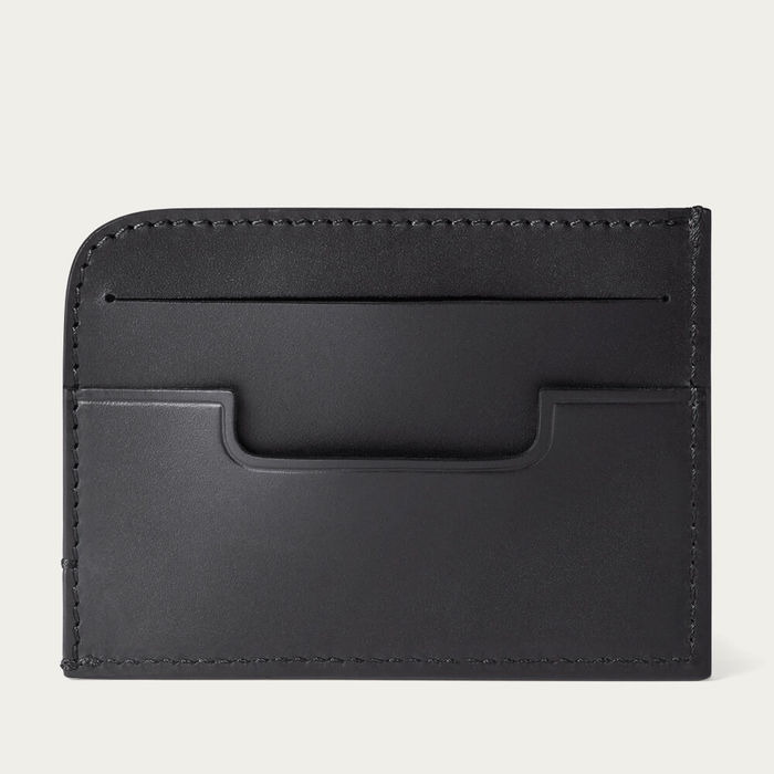 Black Hatton Slim Leather Card Wallet | Bombinate