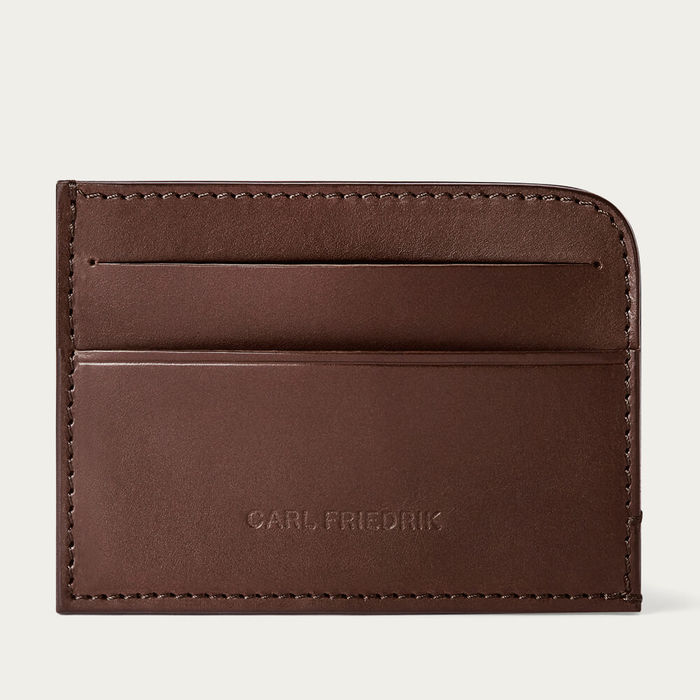 Chocolate Hatton Slim Leather Card Wallet | Bombinate