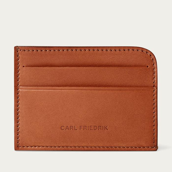 Cognac Hatton Slim Leather Card Wallet | Bombinate
