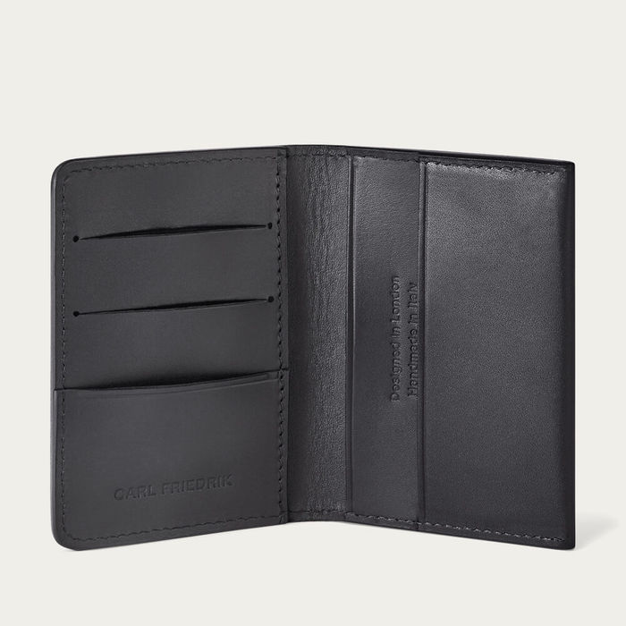 Black Swanfield Leather Card Wallet | Bombinate