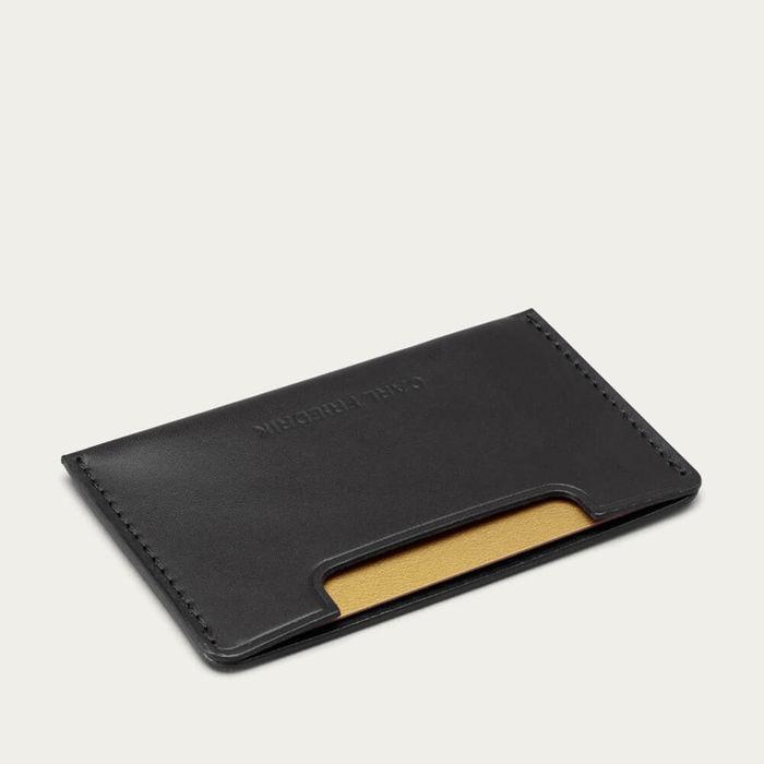 Black Chester Slim Credit Card Holder   Bombinate