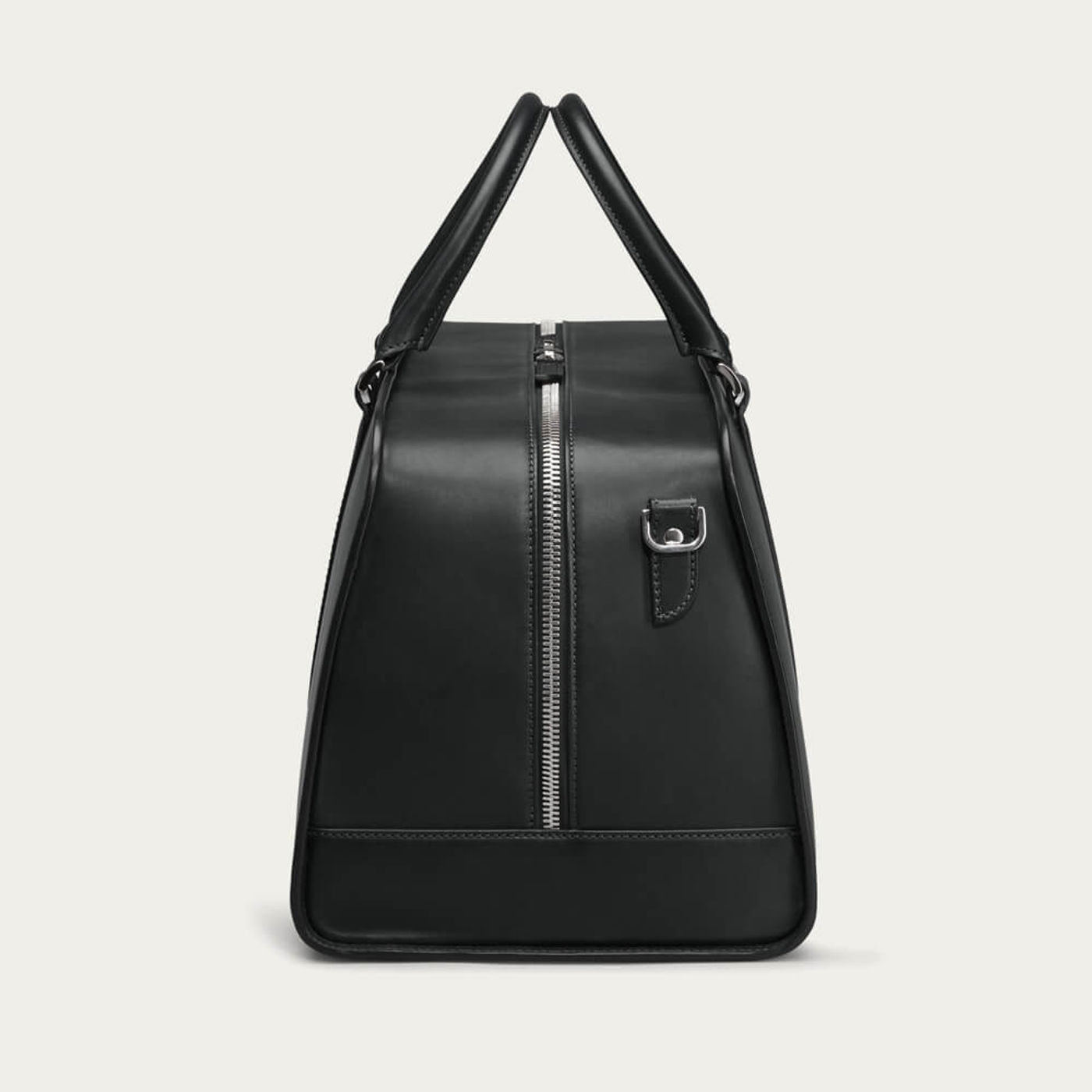 Black with Grey Lining Palissy Weekend Leather Bag | Bombinate
