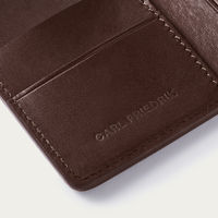 Chocolate Swanfield Leather Card Wallet | Bombinate