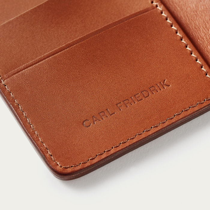 Cognac Swanfield Leather Card Wallet | Bombinate