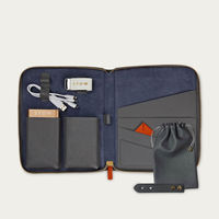 Quiet Shade & Blue Jeans The First Class Leather Tech Set   Bombinate