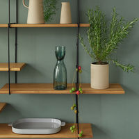 Oak / Black LINK Set 1 Shelf  | Bombinate