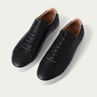 Black Leather Series 1 Sneakers | Bombinate