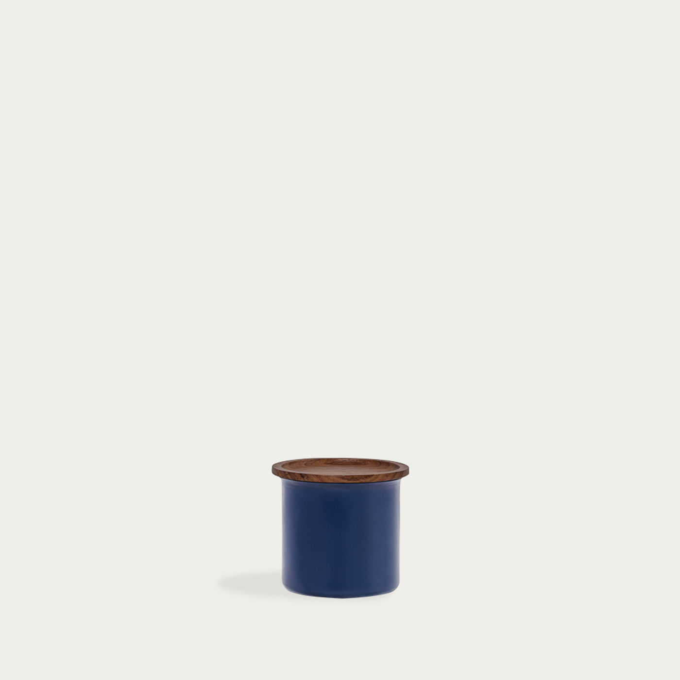 Blue Ayasa Coloured Jar with Wooden Lid 0,5L | Bombinate