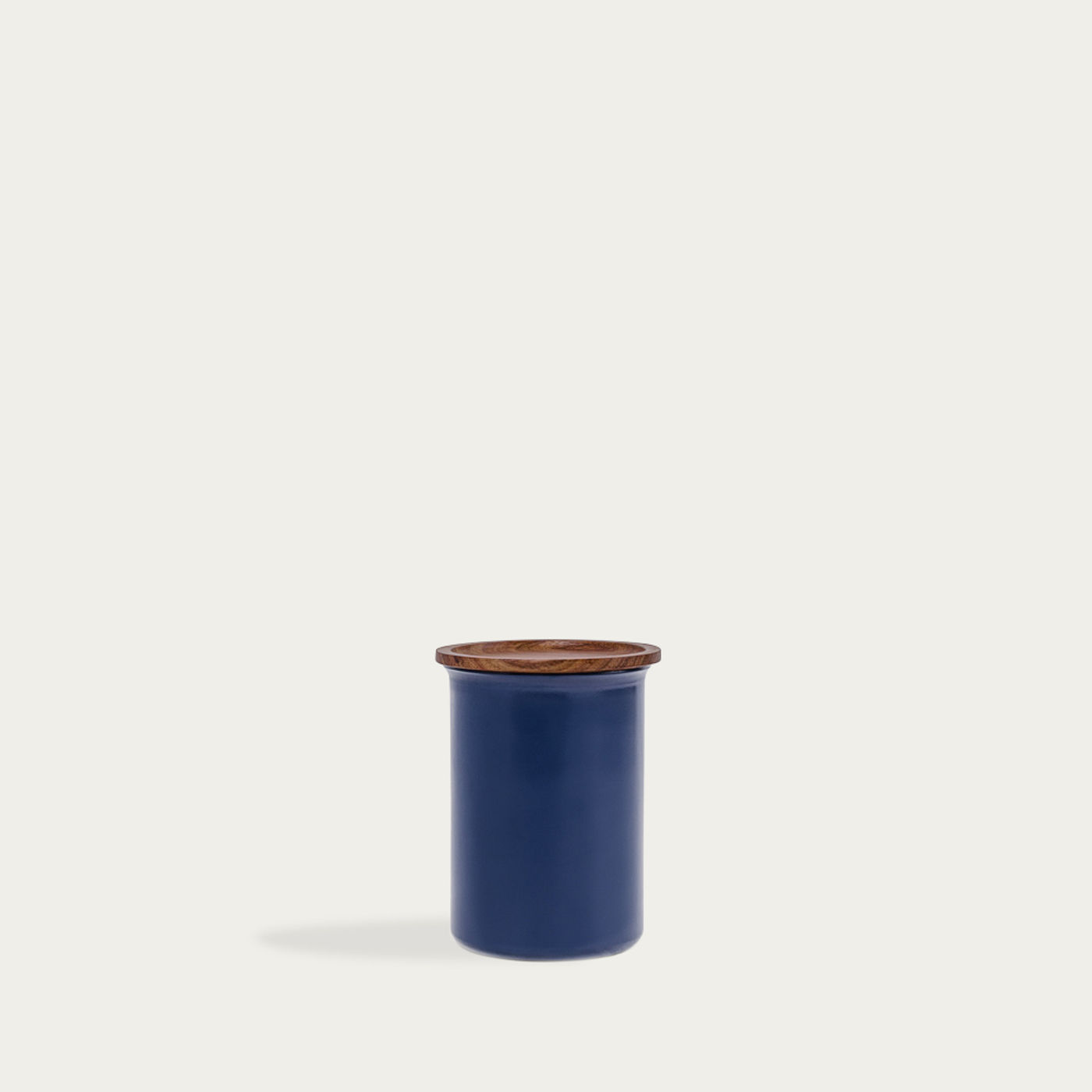 Blue Ayasa Coloured Jar with Wooden Lid 0,75L | Bombinate