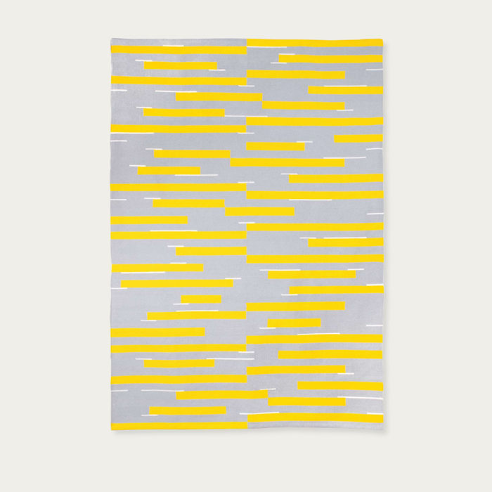Stripe Grey Jamakhan Handwoven Rug | Bombinate