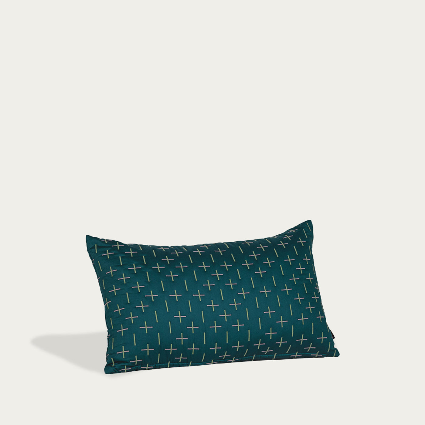 Teal Kantha Stitch 2 Quilted Cushion | Bombinate