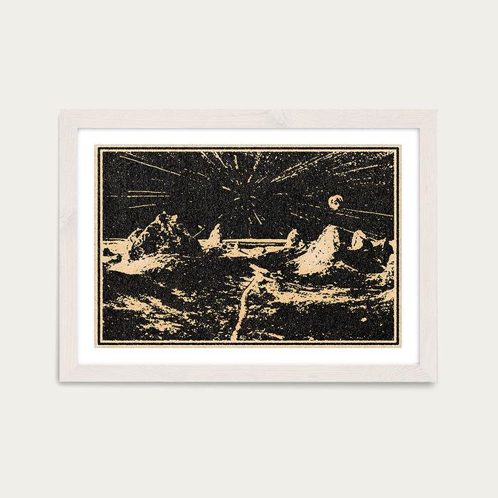 The Road Ahead Art Print White Frame | Bombinate