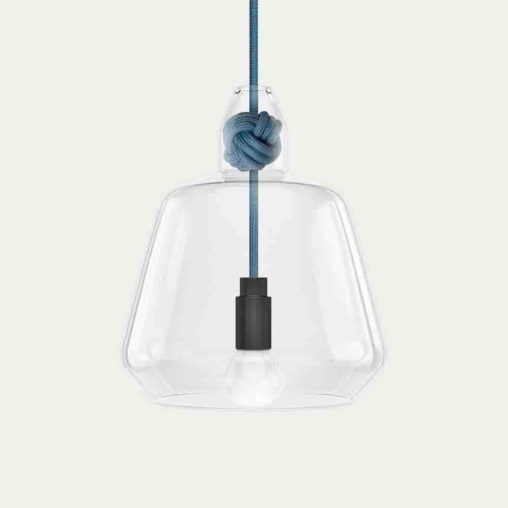 Mid Blue Large Knot Lamp | Bombinate