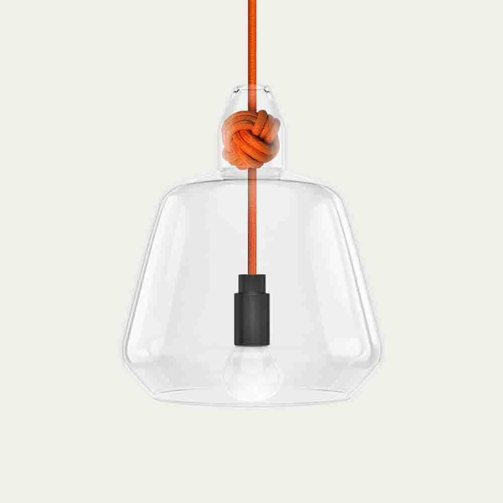 Orange Large Knot Lamp | Bombinate