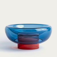 Blue/Red Large Sphere Bowl   Bombinate