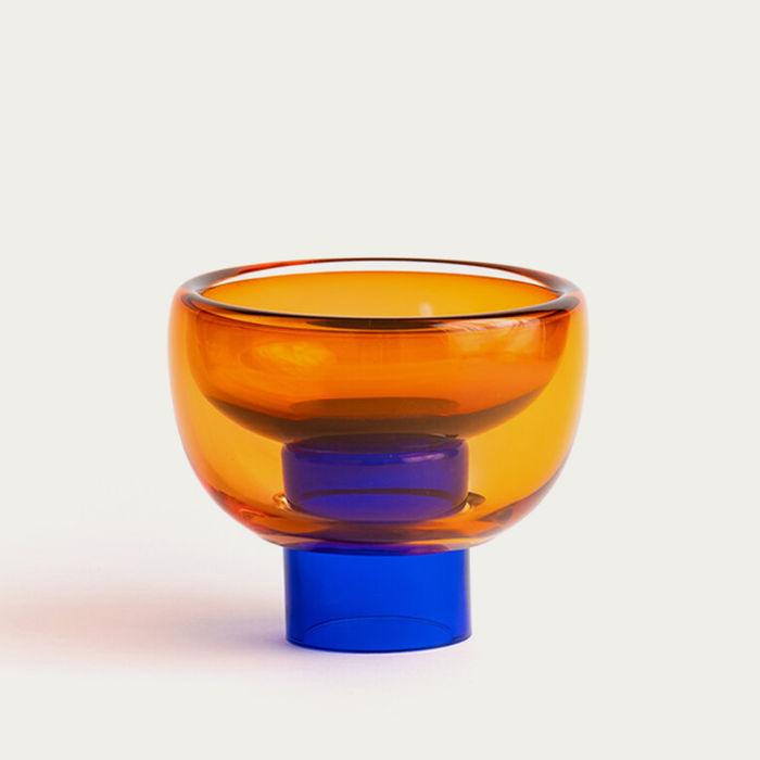 Blue/Orange Small Sphere Bowl | Bombinate