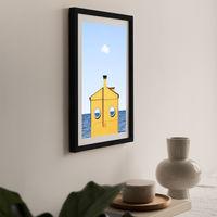 Submarine Art Print Black Frame | Bombinate
