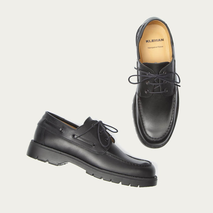 Black Donato Leather Derby | Bombinate